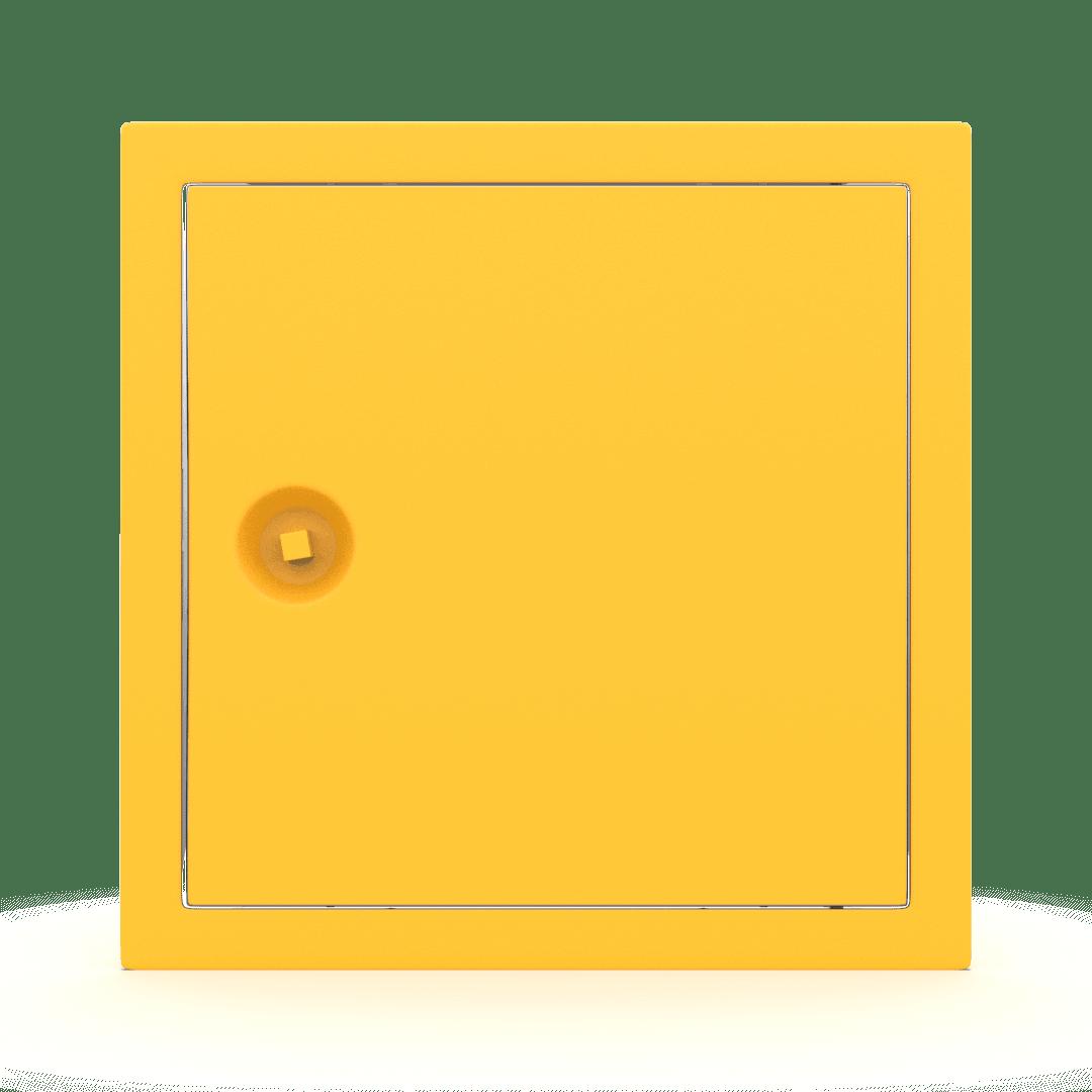 Trappe de visite métallique colorée Tempo Softline clé carrée 3