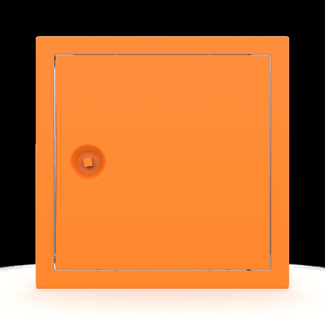 Trappe de visite métallique colorée Tempo Softline clé carrée 4
