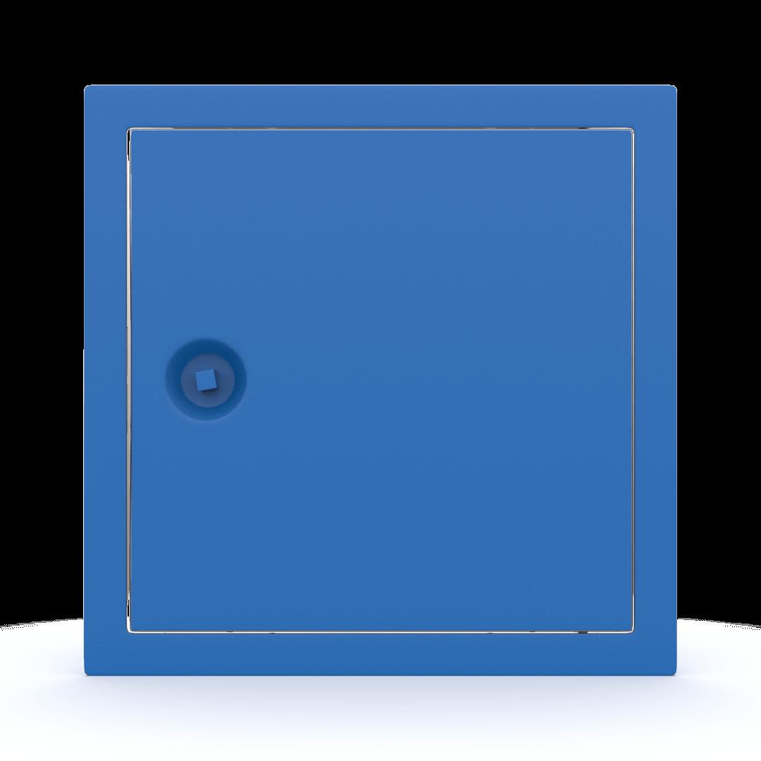 Trappe de visite métallique colorée Tempo Softline clé carrée 6