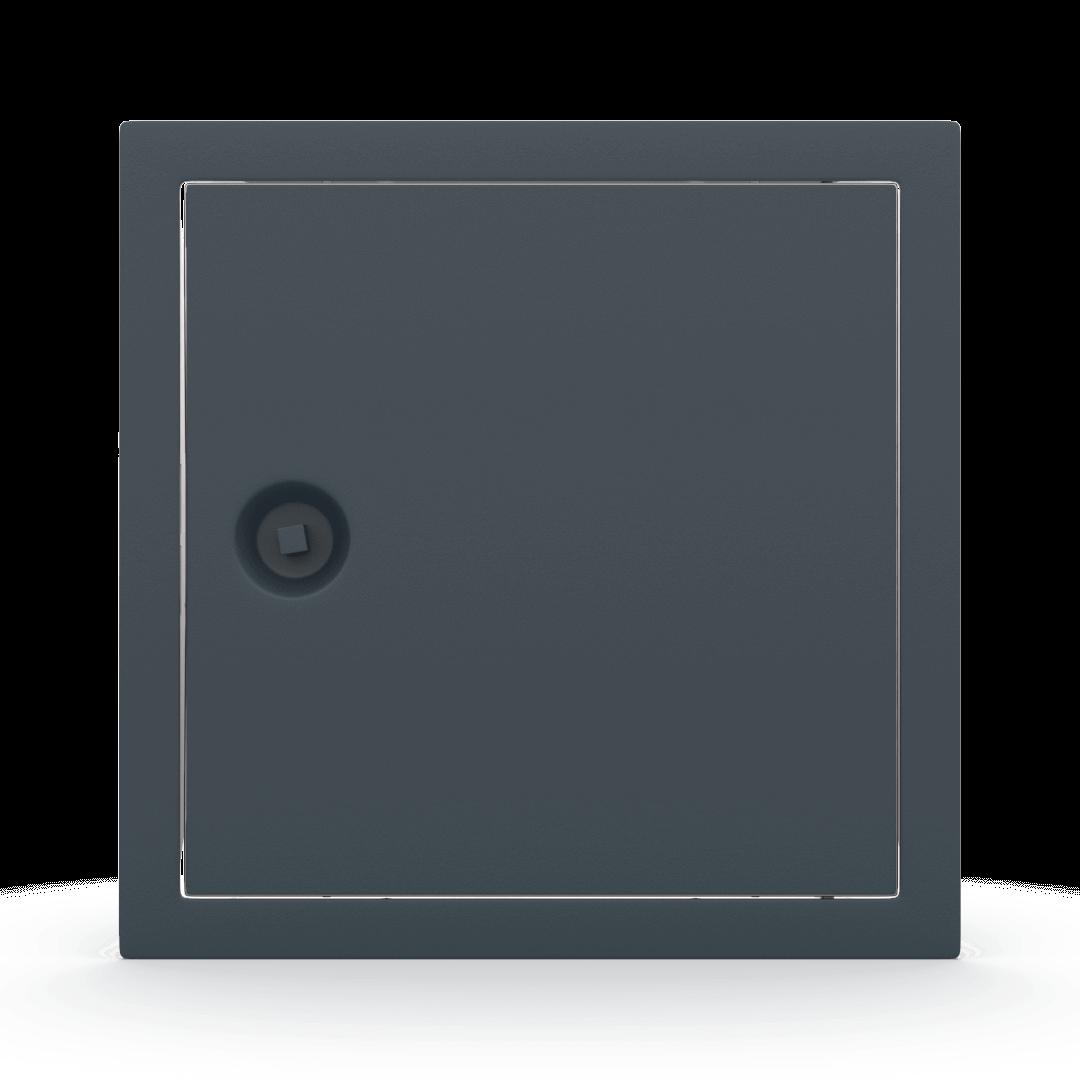 Trappe de visite métallique colorée Tempo Softline clé carrée 7