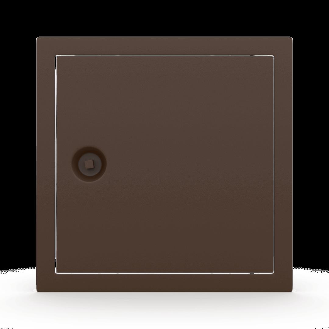 Trappe de visite métallique colorée Tempo Softline clé carrée 13