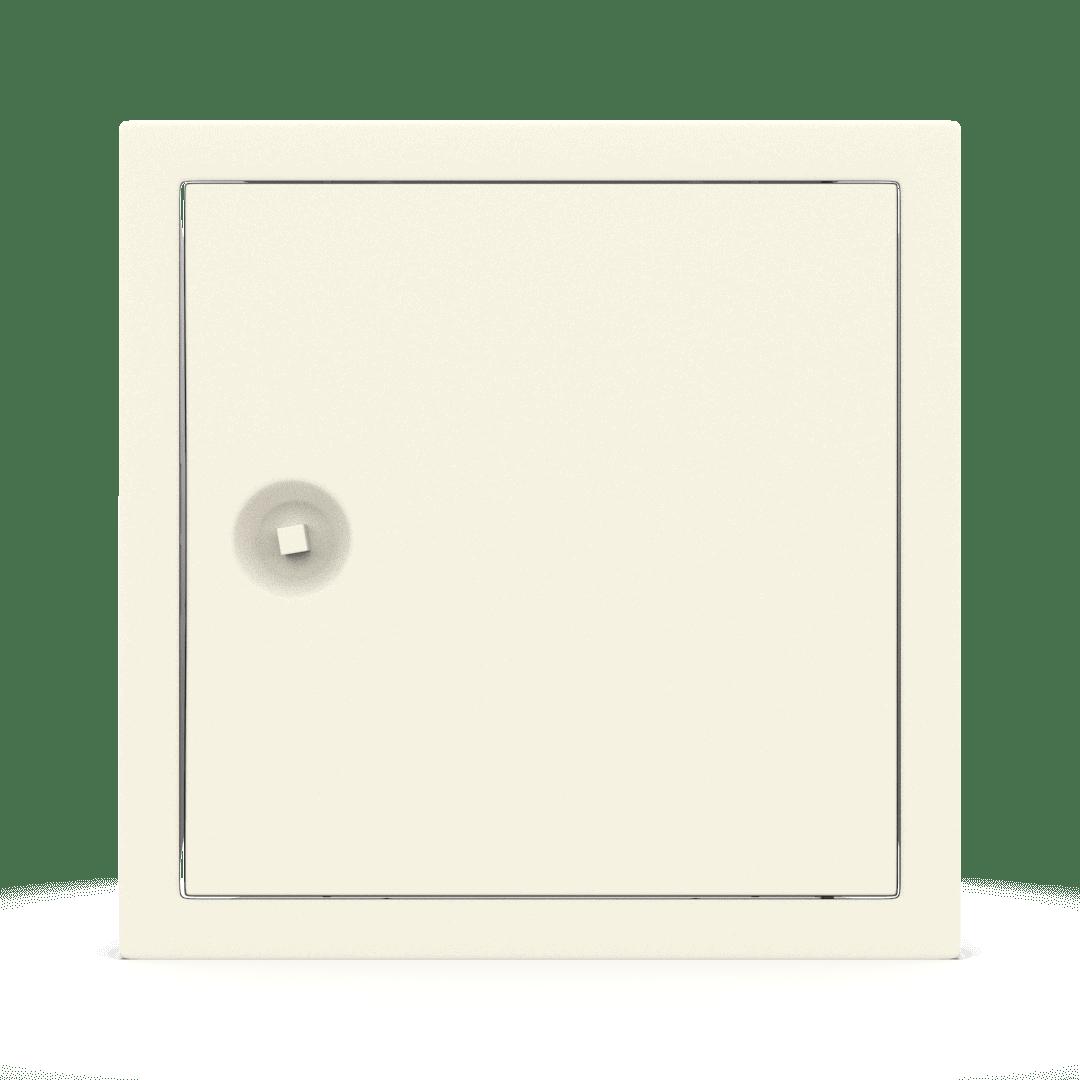 Trappe de visite métallique colorée Tempo Softline clé carrée 8