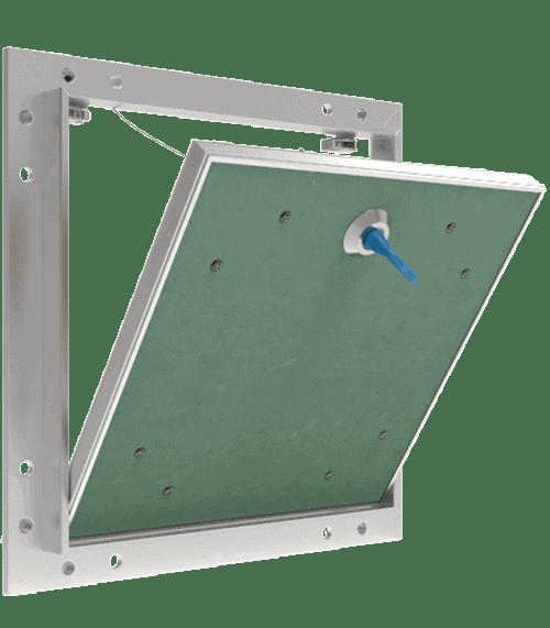 Trappe de visite invisible Tempo Eco Star avec ba 13 hydrofugé ouverture pousser lacher 360