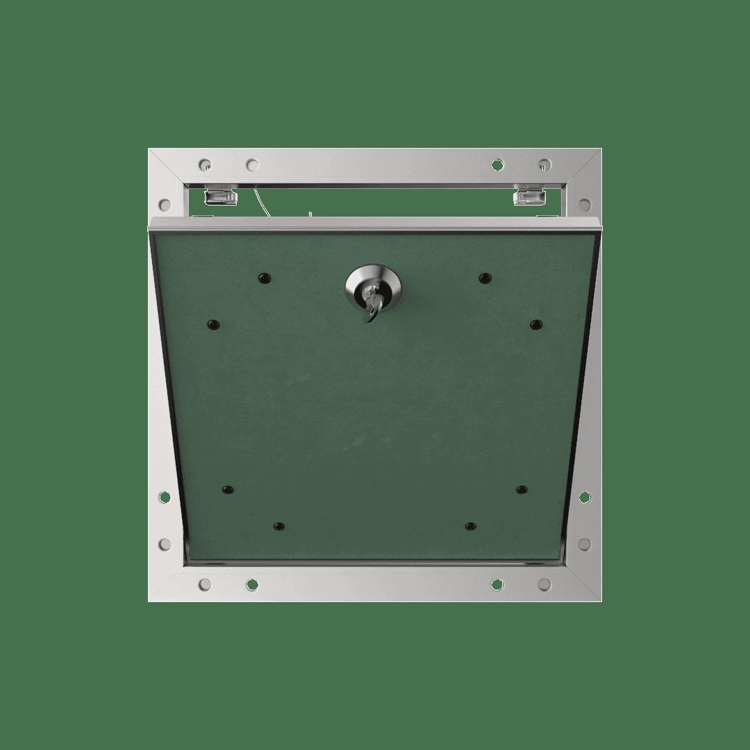trappe de visite plaque de platre alustar cle cylindrique ouvert