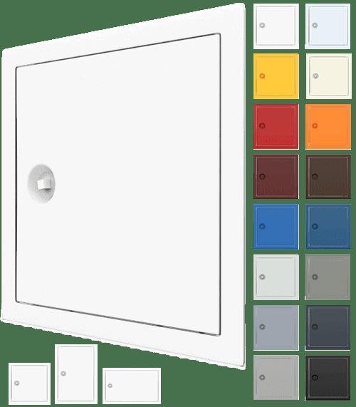 Trappe de visite métallique sur mesure plusieurs tailles, différentes couleurs