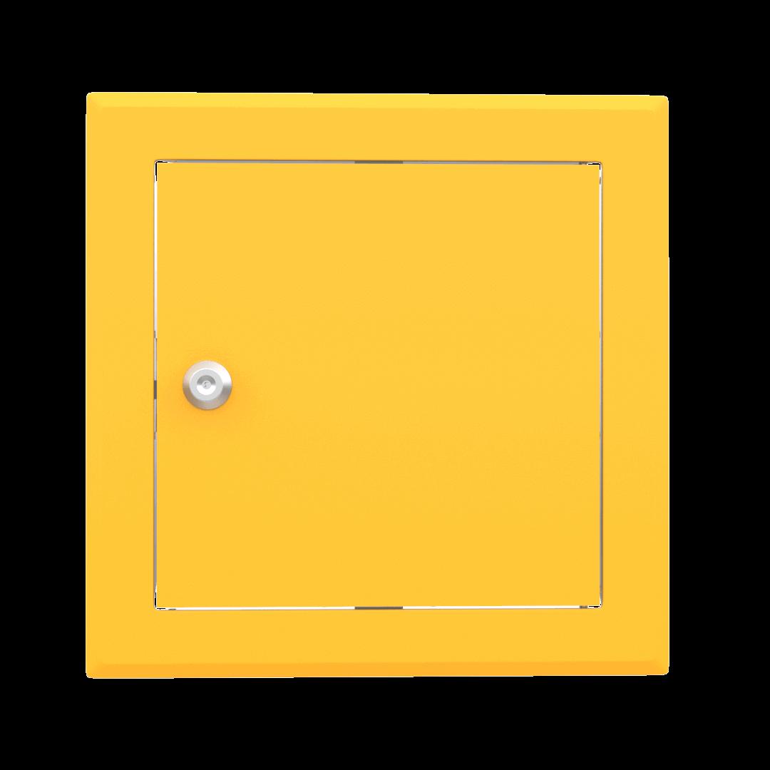 Trappe de visite métallique colorée Tempo Softline Clé cylindrique 1