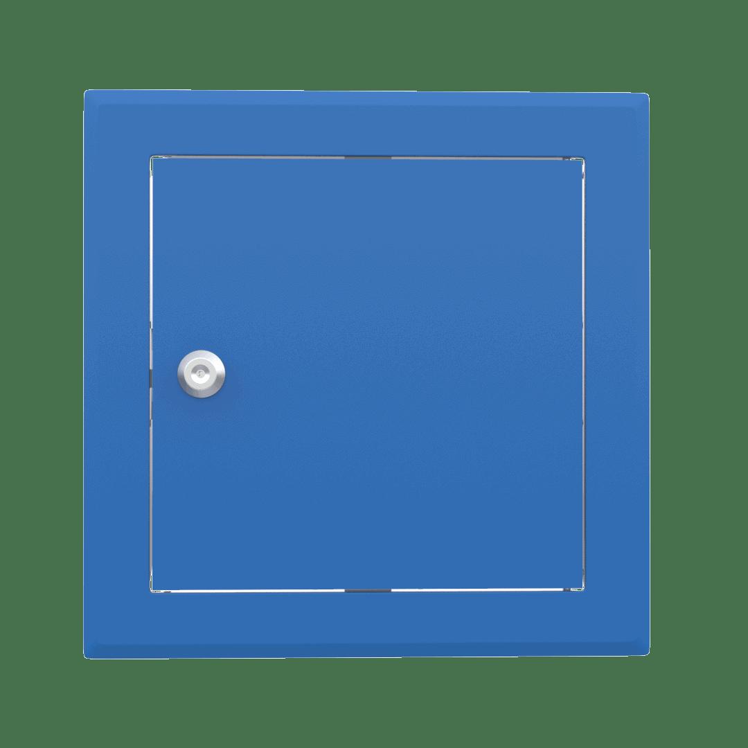Trappe de visite métallique colorée Tempo Softline Clé cylindrique 6