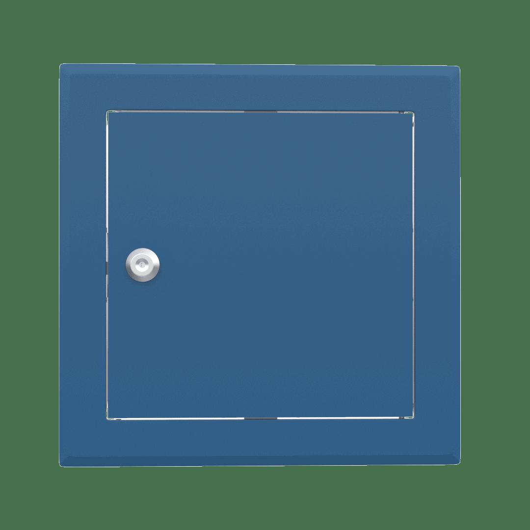 Trappe de visite métallique colorée Tempo Softline Clé cylindrique 5