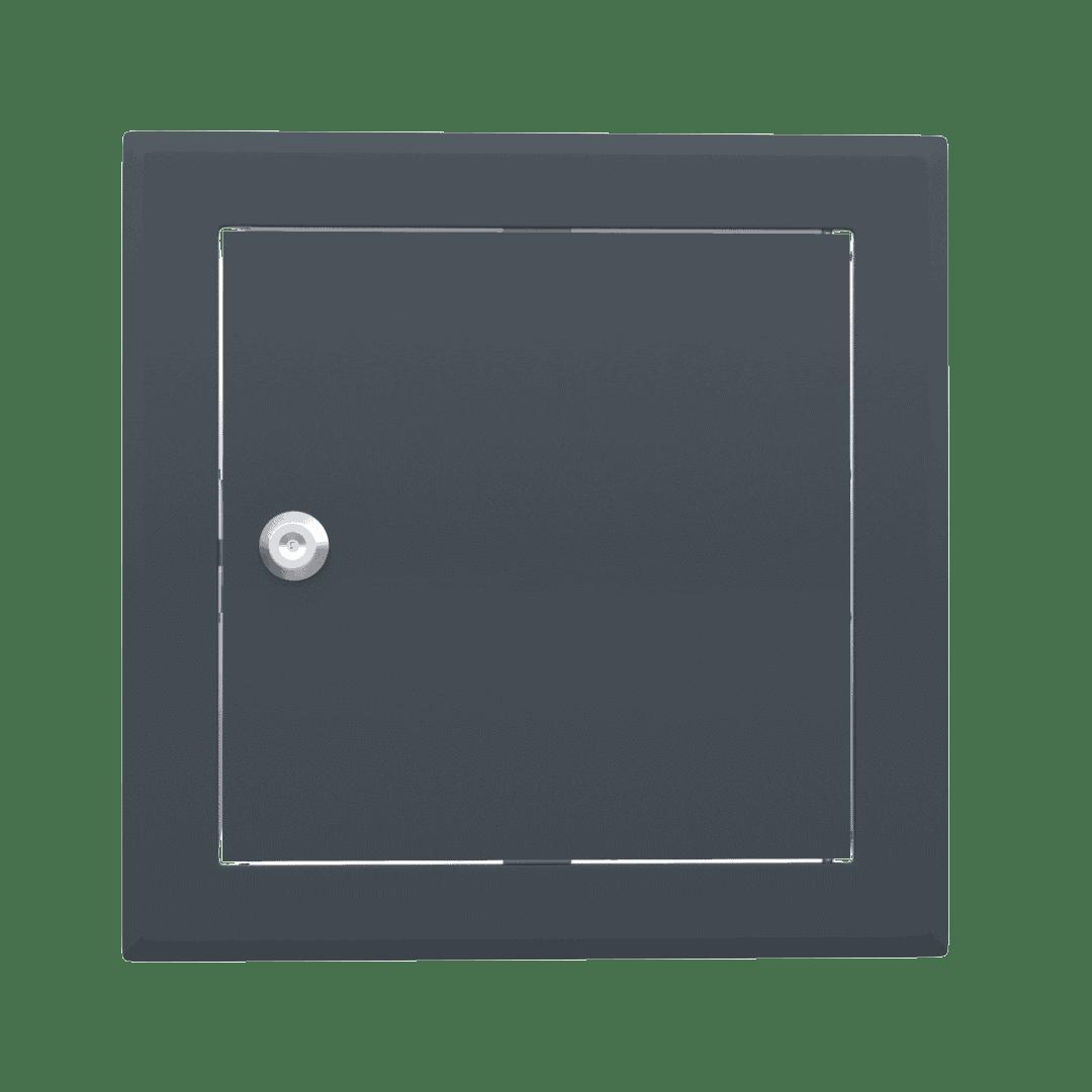 Trappe de visite métallique colorée Tempo Softline Clé cylindrique 8