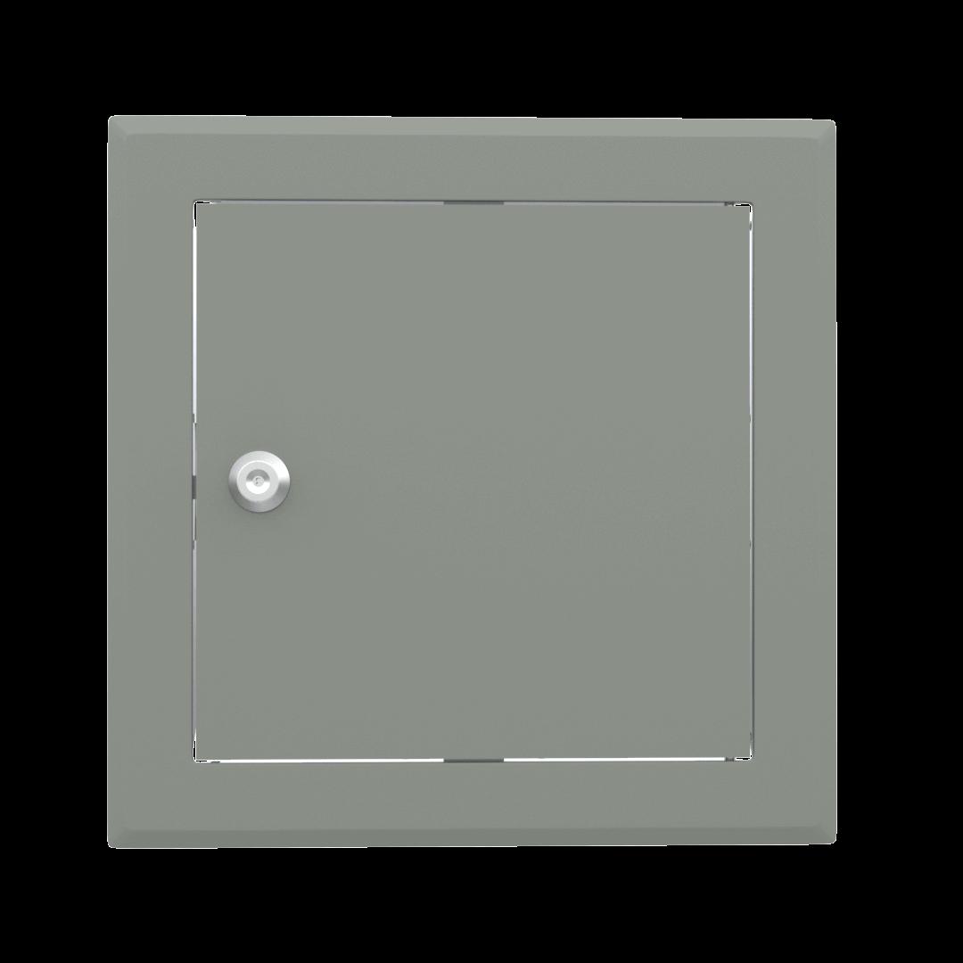 Trappe de visite métallique colorée Tempo Softline Clé cylindrique 14