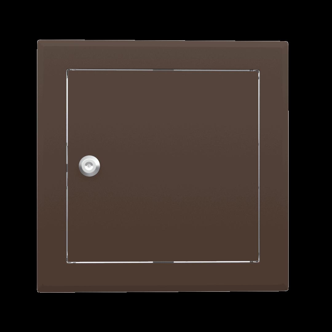 Trappe de visite métallique colorée Tempo Softline Clé cylindrique 12