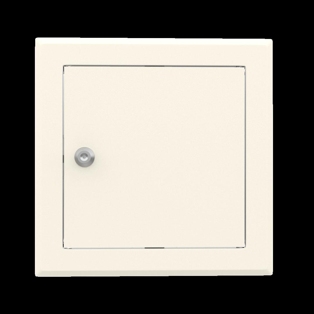 Trappe de visite métallique colorée Tempo Softline Clé cylindrique 9
